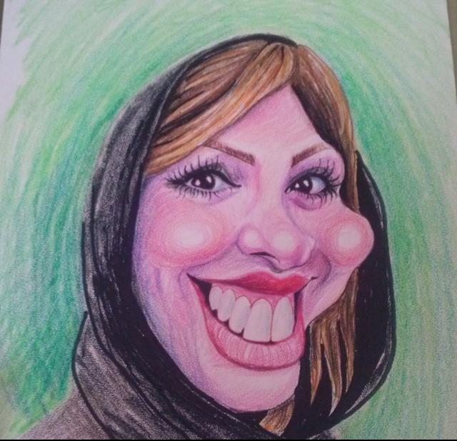 کاریکاتور جالب از چهره نیوشا ضیغمی