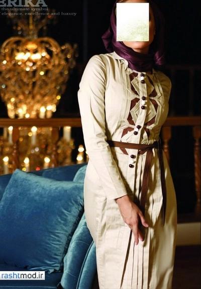 مدل مانتو های شیک و زیبا در طرحهای مختلف خوش رنگ