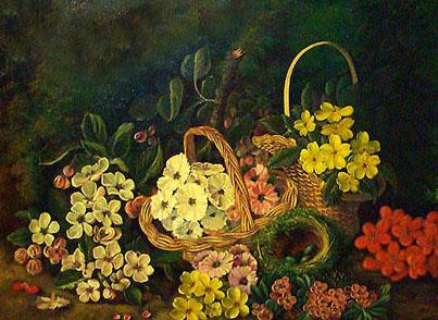 تابلو نقاشی گل های مینیاتور