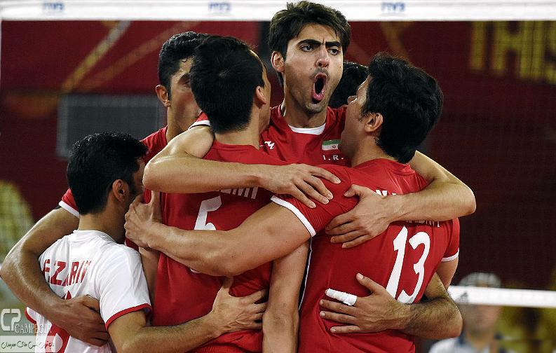 عکس های پیروزی والیبال ایران برابر آرژانتین
