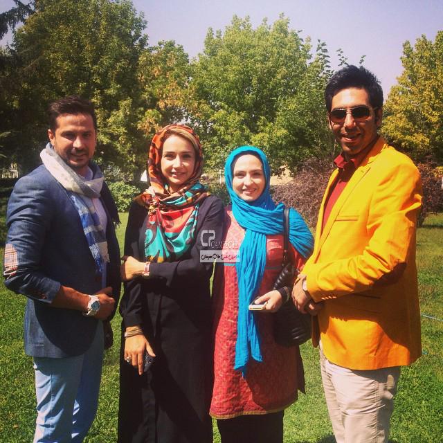 شبنم قلی خانی و گلاره عباسی در همدان