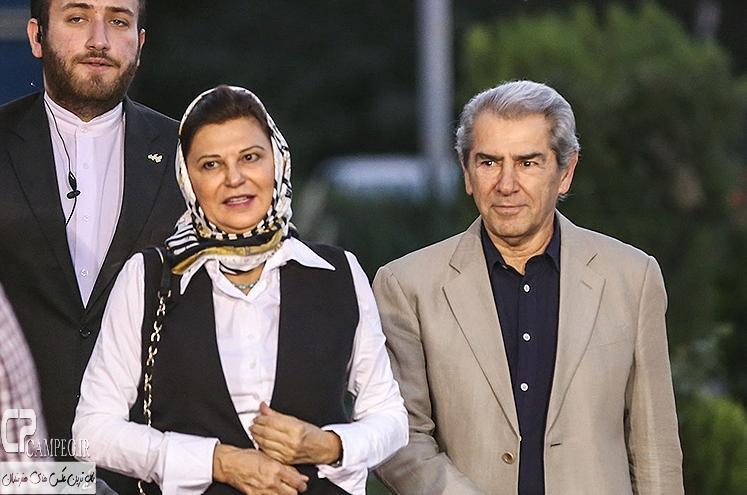 فرامرز قریبیان و همسرش