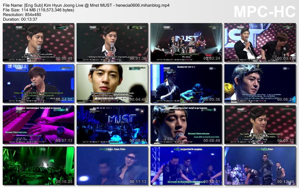 Eng Sub_Kim Hyun Joong Live @ Mnєt MUST