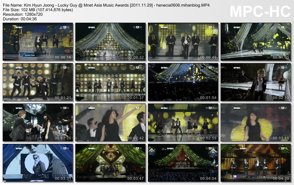 Kim Hyun Joong - Lucky Guy @ Mnet Asia Music Awards - 2011.11.29