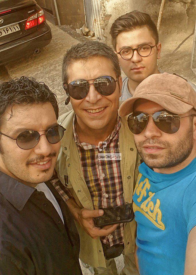 جواد عزتی و امیر غفار منش در پشت صحنه سریال دردسر های عظیم