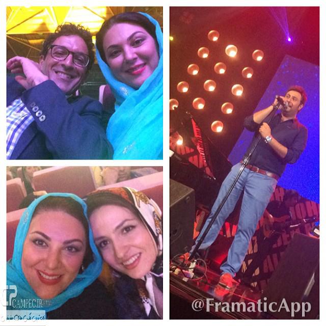 لاله اسکندری و همسرش و گلاره عباسی در کنسرت محمد علیزاده