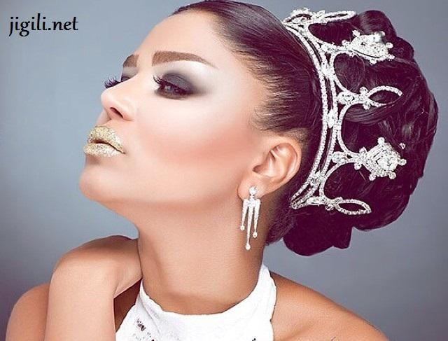 میکاپ و شنیون عروس , آرایش , مدل آرایش عروس , جدیدترین مدل آرایش عروس , آرایش عروس ایرانی , زیباترین مدلهای آرایش عروس ایرانی , شنیون عروس , مدل شینیون