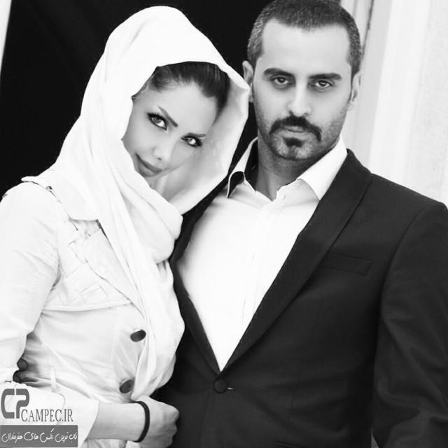 علیرام نورایی با همسرش