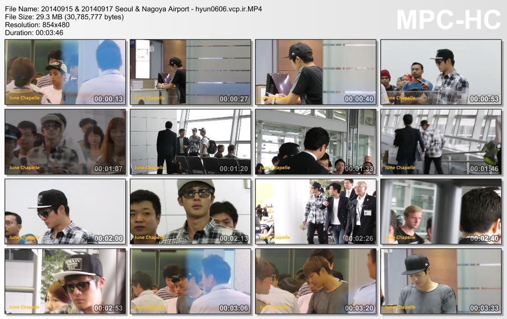 [June Chapelle Fancam] Kim Hyun Joong Departing Seoul & Nagoya Airport [2014.09.15 & 2014.09.17]