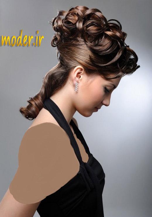 مدل مو زیبا شنیون برای مجلس و عروسی