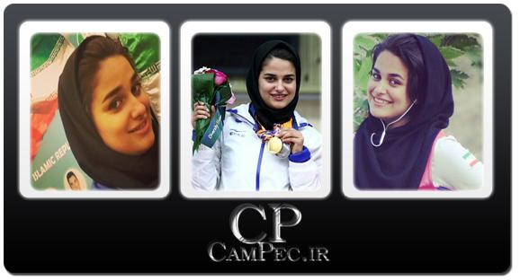 عکس های جدید نجمه خدمتی دختر طلایی ایران در اینجیون