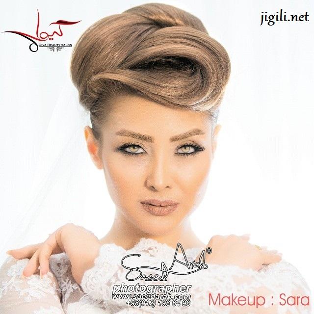 مکاپ و شنیون عروس سری 1 , آرایش , مدل آرایش عروس , جدیدترین مدل آرایش عروس , آرایش عروس ایرانی , زیباترین مدلهای آرایش عروس ایرانی , شنیون عروس , مدل شینیون
