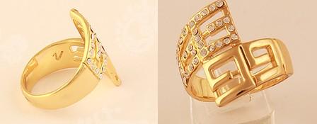 خرید انگشتر زنانه دخترانه فانتزی نگنی دار لرا طرح 2014