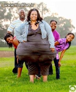 عکس زن چاق