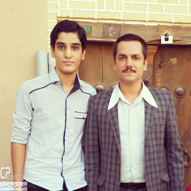 عباس غزالی در پشت صحنه سریال هانیه