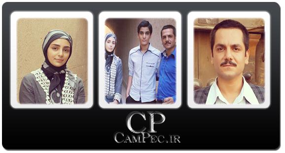 عکس های هستی مهدوی فر و عباس غزالی در پشت صحنه سریال «حانیه»