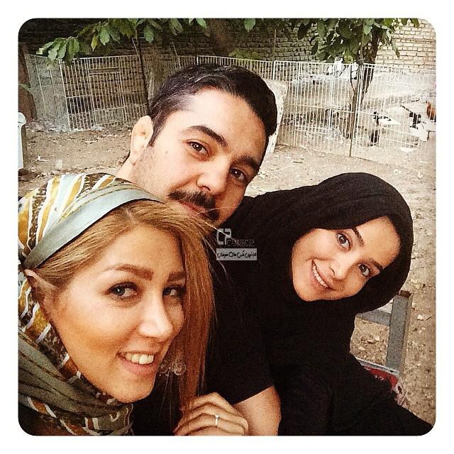 الناز حبیبی و برادرش و همسرش