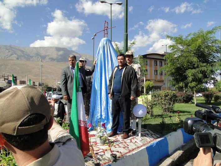 پرده برداری از تندیس سردار شهید جواد قنبری قاضی جهانی در ماکو