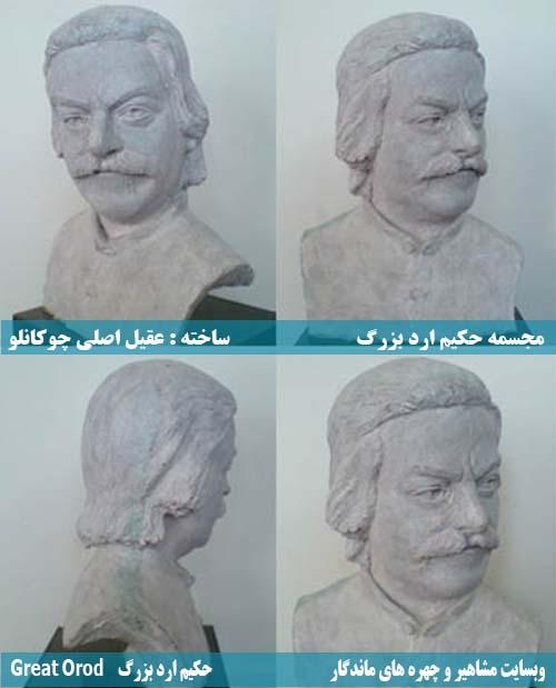 Aghil Asli Chokanlu, عکس عقیل اصلی چوکانلو, ساخت مجسمه حکیم ارد بزرگ توسط عقیل اصلی چوکانلو , عقیل اصلی ، عکس مجسمه بزرگ شیروان ساخته شد