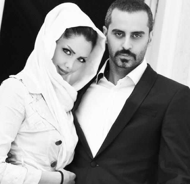 عکس زیبای علی رام نورایی و همسرش