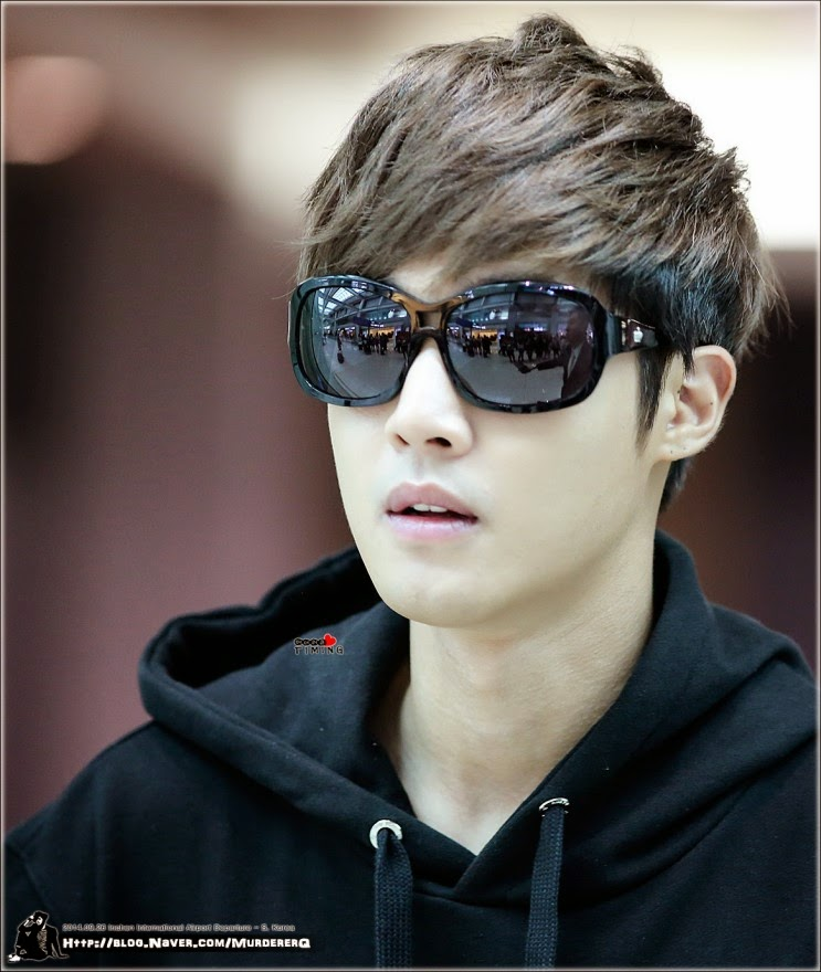 [mijya0909 + MurdererQ] Kim Hyun Joong - Incheon Airport Departure to Japan [14.09.26]