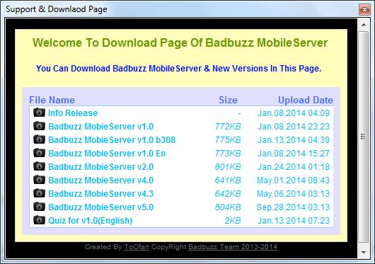 badbuzz mobile server v5 61