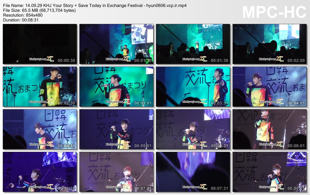 [Kimhyunjoong24 Fancam] Kim Hyun Joong - Japan and South Korea Exchange Festival 2014 in Tokyo [14.09.29]