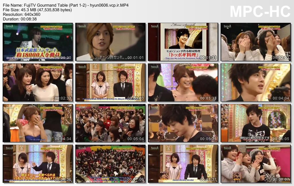 TSVN ، MNYK_Kim Hyun Joong - FujiTV Gourmand Table