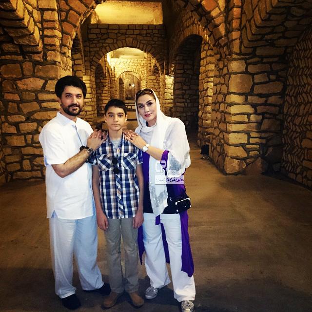 امیر حسین مدرس و همسرش