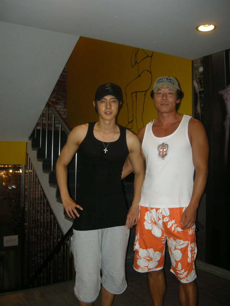 Kim Hyun Joong With His Fitness Training