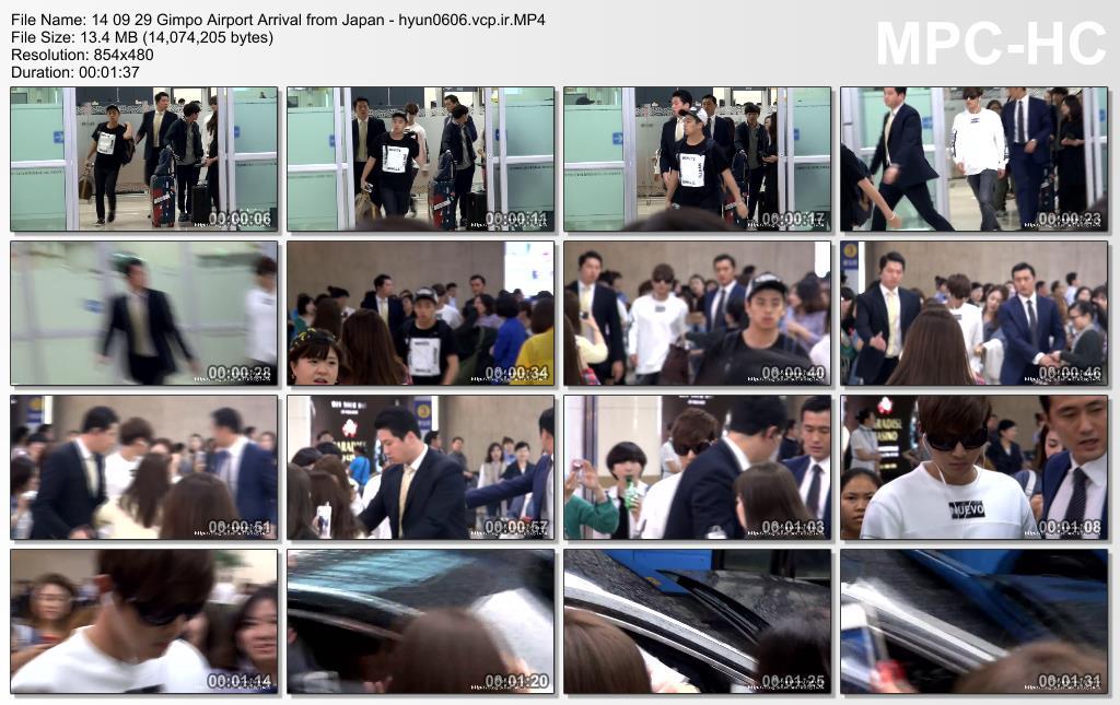 [HyunJoong Baraba Fancam] Kim Hyun Joong - Gimpo Airport Arrival from Japan [14.09.29]