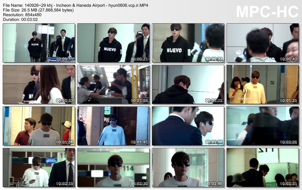 [HollisHyun Fancam] Kim Hyun Joong at Incheon & Haneda Airport [2014.09.26-29]