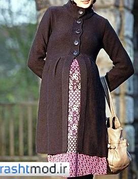 مانتو بلند پاییزی براداری حاملگی خانومهای چاغ و لاغر