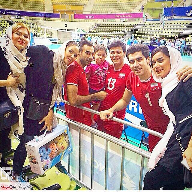 بازیکنان تیم ملی با همسراشنان