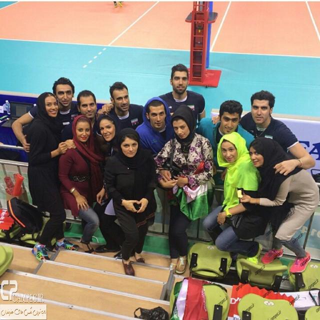 عکس های والیبالیست های تیم ملی با خانواده هایشان در اینچئون