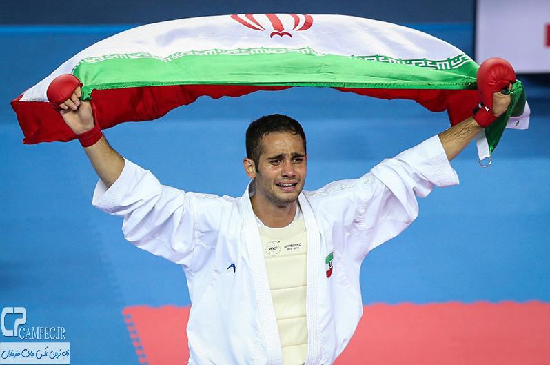 سعید حسنی پور قهرمان طلایی ایران در کاراته