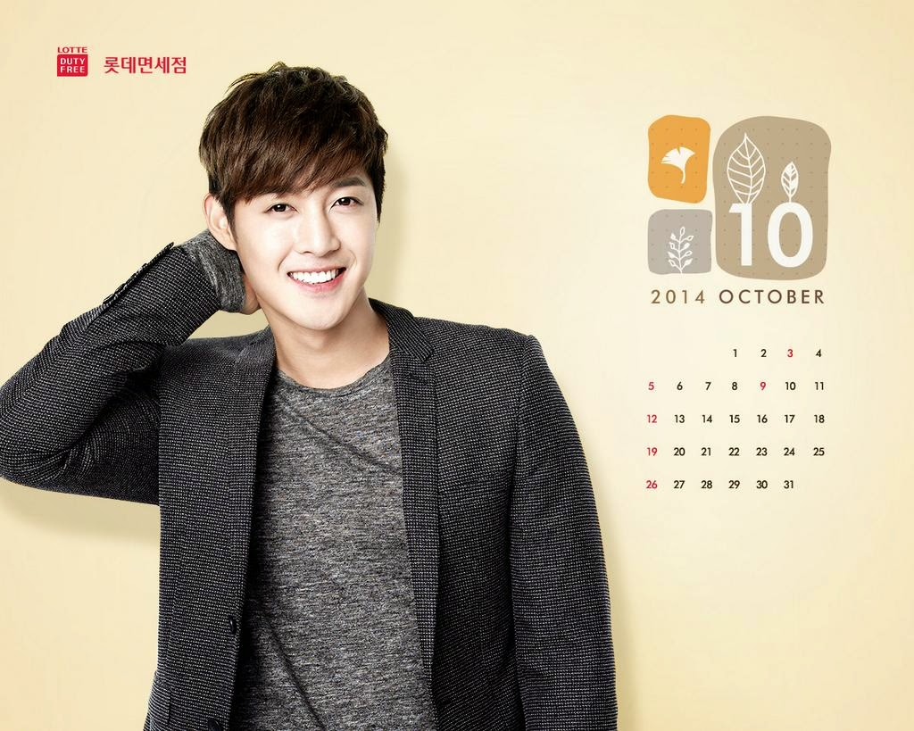 Photo_Kim Hyun Joong - Lotte Duty Free October 2014 Calendar Wallpaper