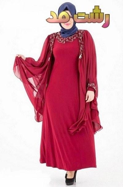 مدل لباس شب کوتاه بلند مجلسی پوشیده زنانه 2015