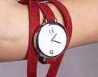 ساعت مچی دخترانه زنانه بند قرمز