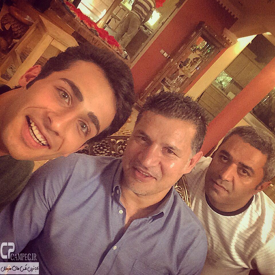 علی دایی و مهران ضیغمی در پشت صحنه سریال آخرین سلطان