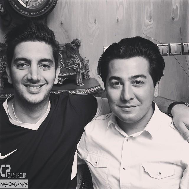 مانی نوری و فرزاد فرزین در پشت صحنه سریال آخرین سلطان