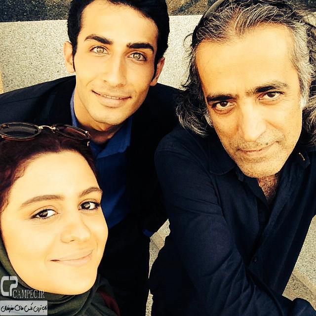 مهران ضیغمی و فاطیما بهارمست در پشت صحنه سریال آخرین سلطان