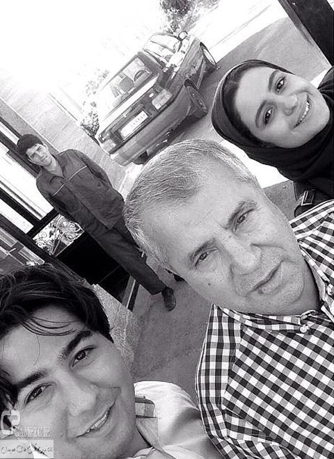 مهران ضیغمی و فاطیما بهارمست و علی پروین در پشت صحنه سریال آخرین سلطان