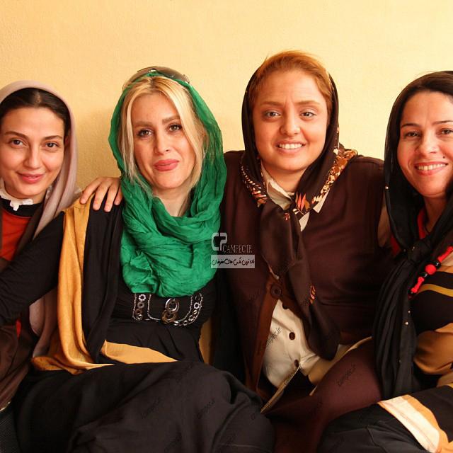 نرگس محمدی و حدیث میر امینی در پشت صحنه سریال ستایش2