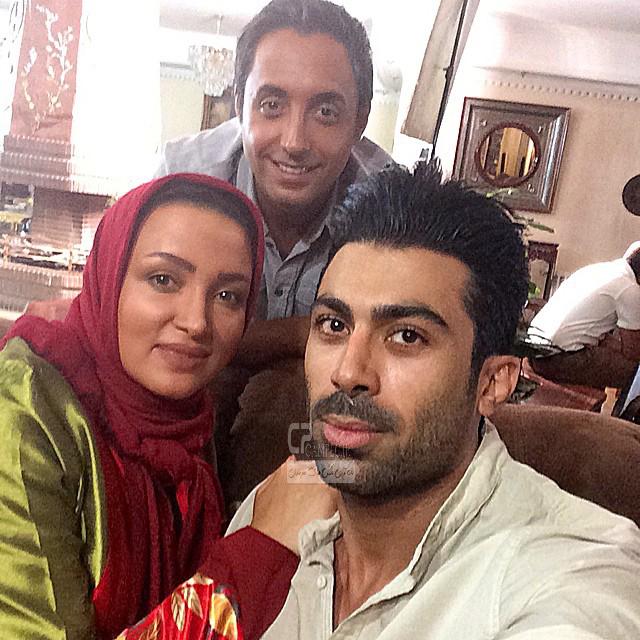 روناک یونسی و همسرش محسن میری و امیر حسین رستمی