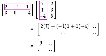 how to solve a 2x3 matrix