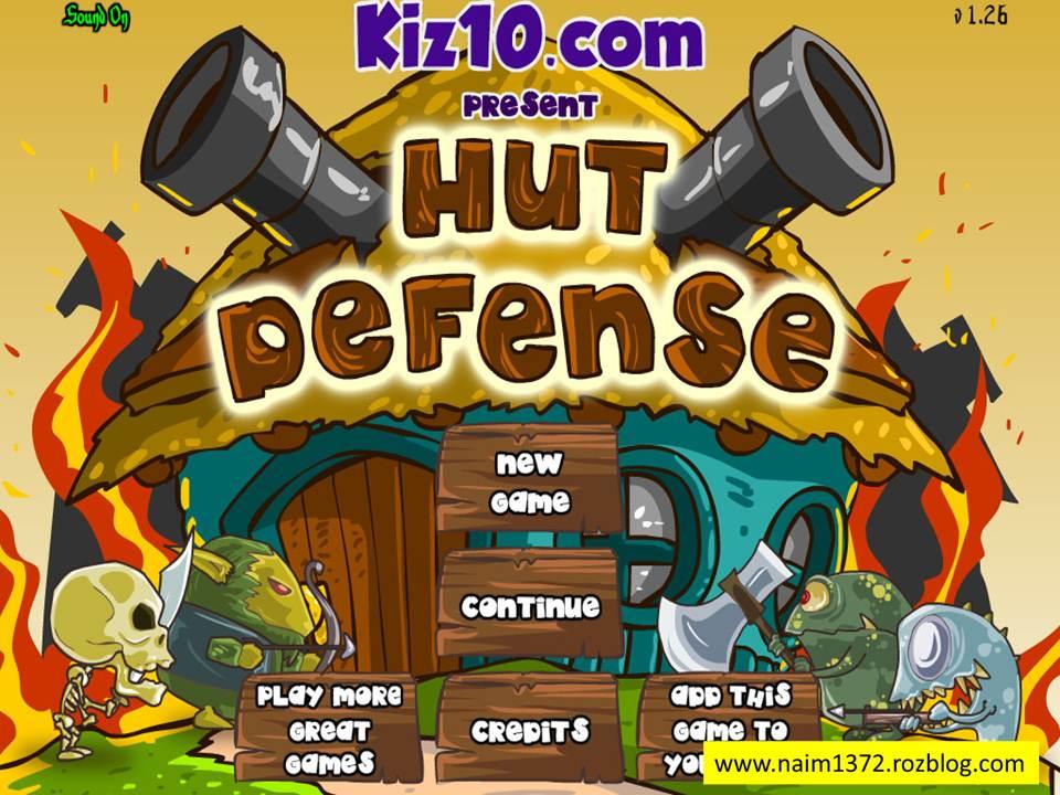 دانلود بازی فلش Hut Defense