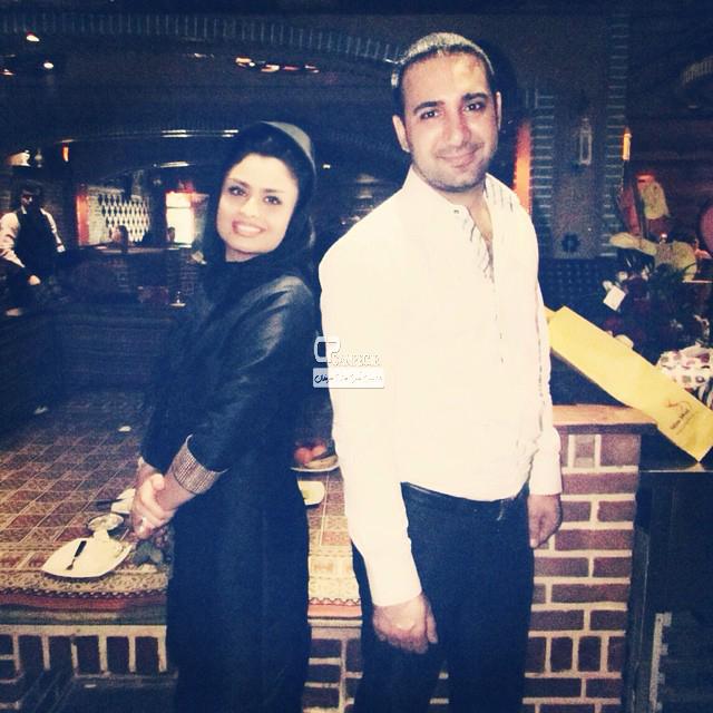شاهین صمد پور مجری برنامه شوک و همسرش