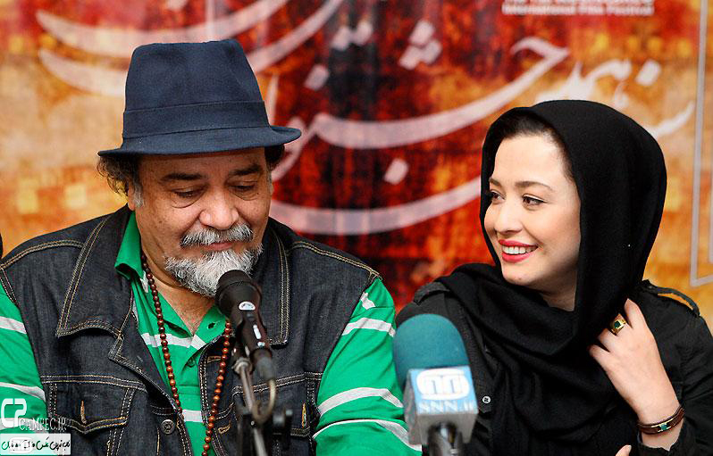 مهراوه شریفی نیا و پدرش در جشنواره فیلم مقاومت