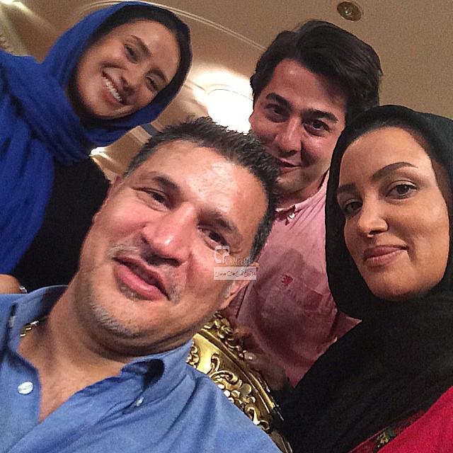 بهاره افشاری و سایر بازیگران سریال آخرین سلطان و علی دایی در پشت صحنه سریال